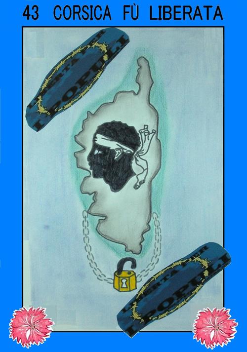 1943 Corsica fù liberata : l'affissi fatti da i zitelli