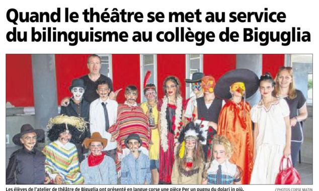 Teatru : l'articulu di Corse-Matin
