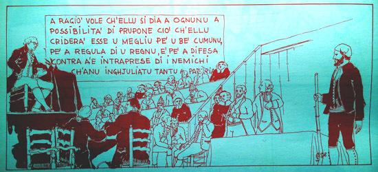 A Cunsulta d'Orezza d'appressu à Tonì Casalonga (Histoire de la Corse en BD, Gregori, Casalonga è Mattei, 1975)
